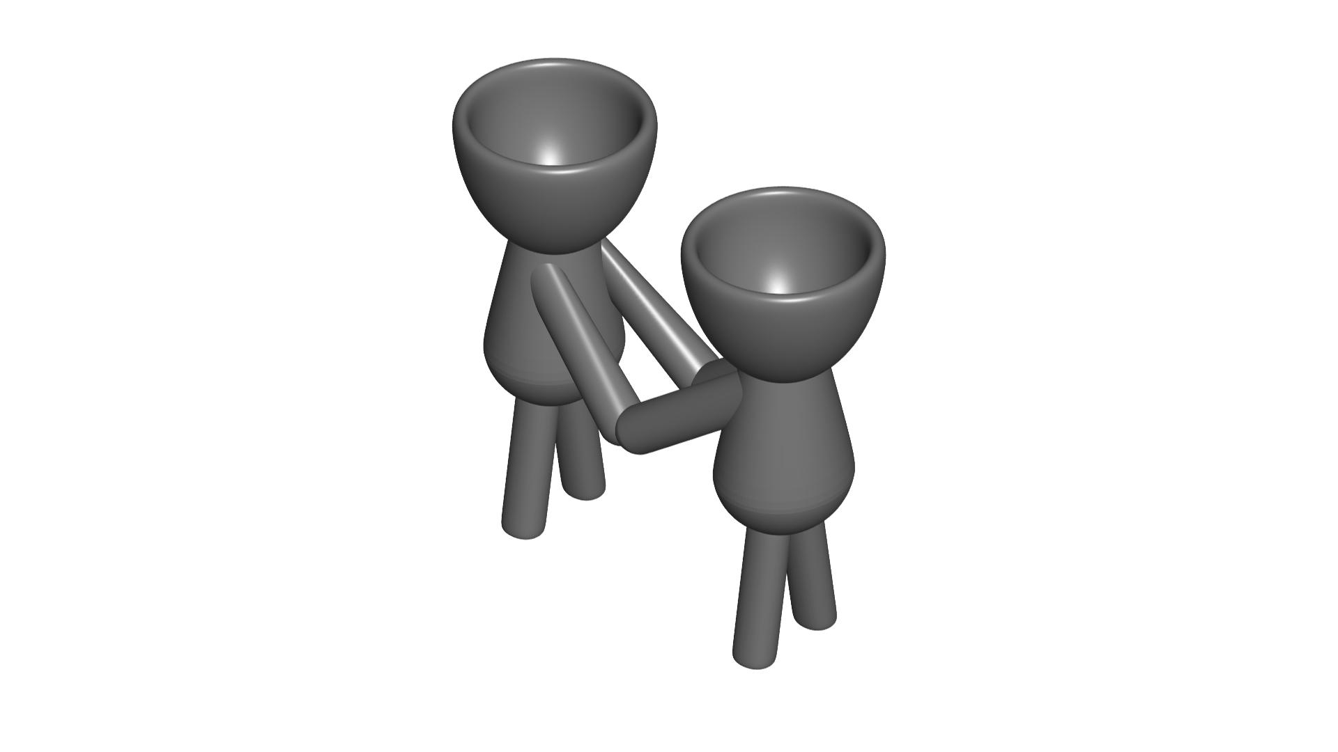 Enamorados_N3_Gris_1.png Télécharger fichier STL gratuit N° 3 VASE POT DE FLEURS ROBERT IN LOVE • Plan imprimable en 3D, CREATIONSISHI