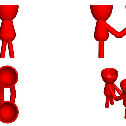 Enamorados_N3_Rojo_2.png Télécharger fichier STL gratuit N° 3 VASE POT DE FLEURS ROBERT IN LOVE • Plan imprimable en 3D, CREATIONSISHI