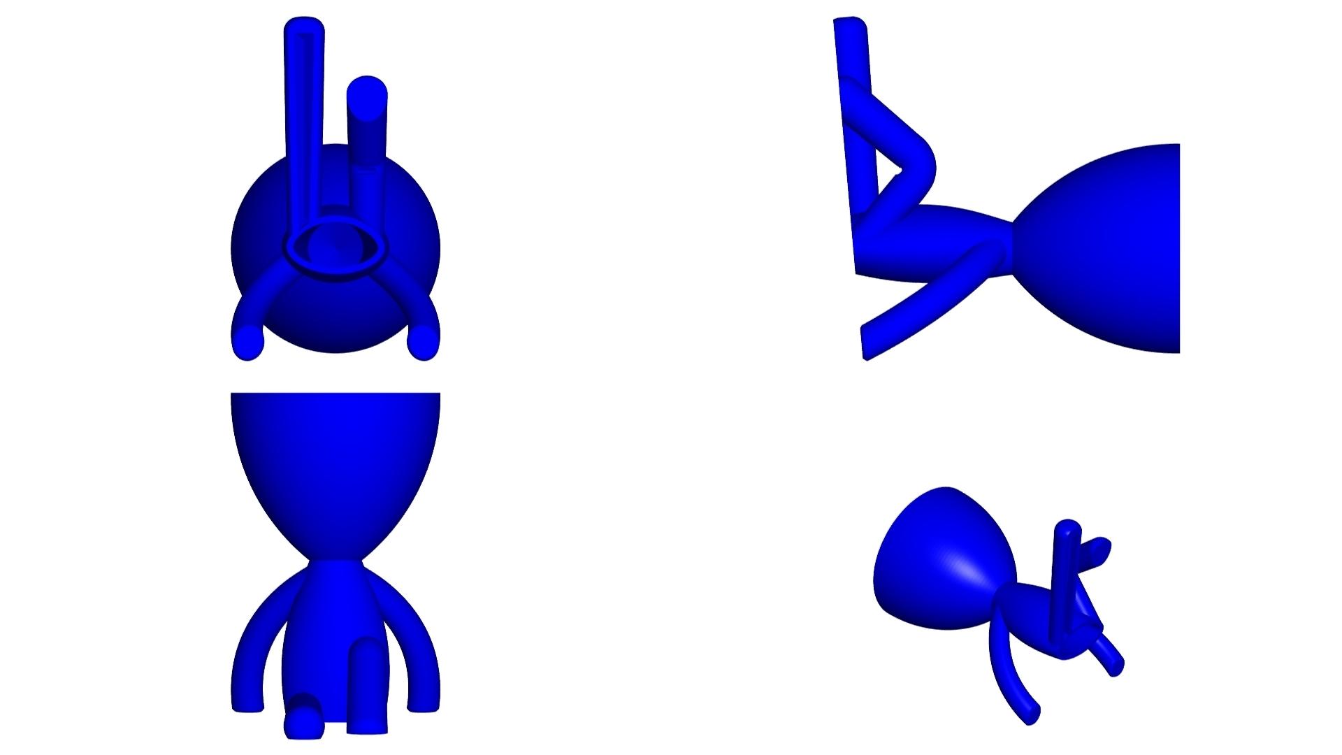 Vaso_102_Azul_2.jpg Télécharger fichier STL gratuit JARRÓN MACETA ROBERT 102 - VASE POT DE FLEURS ROBERT 102 • Plan pour imprimante 3D, CREATIONSISHI