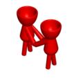 Enamorados_N3_Rojo_1.png Télécharger fichier STL gratuit N° 3 VASE POT DE FLEURS ROBERT IN LOVE • Plan imprimable en 3D, CREATIONSISHI