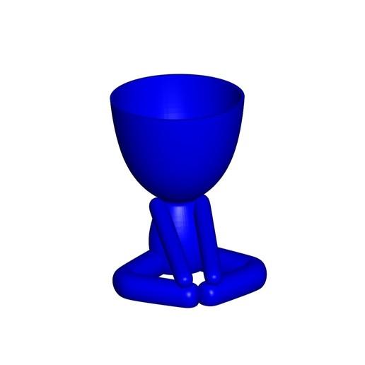 Vaso_12_Azul_1.jpg Télécharger fichier STL gratuit JARRÓN MACETA ROBERT 12 - VASE POT DE FLEURS ROBERT 12 • Plan pour imprimante 3D, CREATIONSISHI