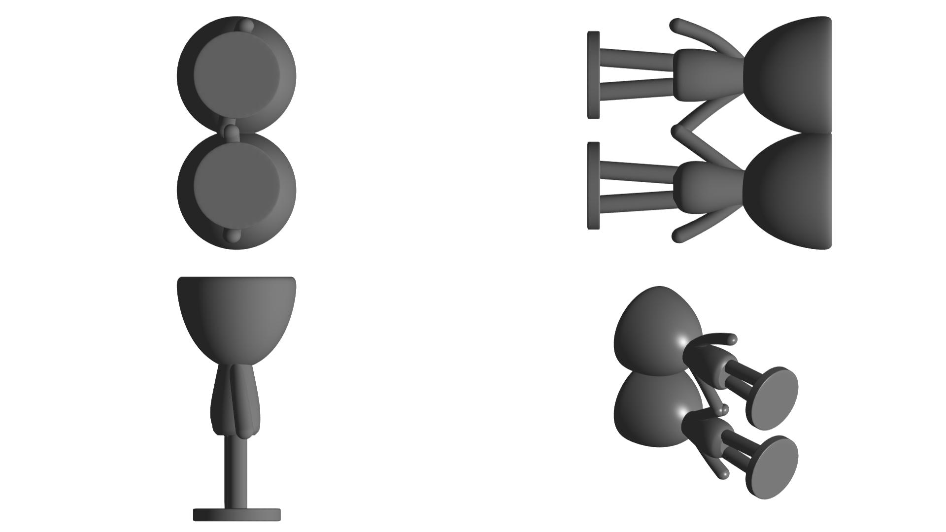 Enamorados_N6_Gris_2.png Télécharger fichier STL gratuit N° 6 VASES ROBERT IN LOVE - N° 6 VASE 8 POT DE FLEURS ROBERT IN LOVE • Design pour imprimante 3D, CREATIONSISHI