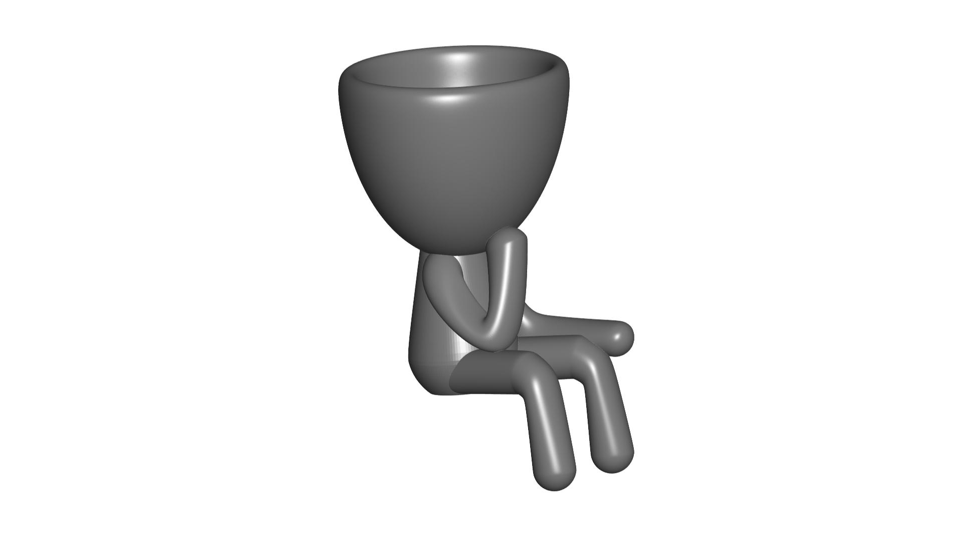 Vaso_11_Gris_1.jpg Télécharger fichier STL gratuit JARRÓN MACETA ROBERT 11 - VASE POT DE FLEURS ROBERT 11 • Design à imprimer en 3D, CREATIONSISHI