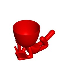 Vaso_101_Leyendo Libro_1.jpg Télécharger fichier STL gratuit Vase Pot de fleurs Robert lisant un livre • Plan imprimable en 3D, CREATIONSISHI