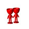 Enamorados_N6_Rojo_1.png Télécharger fichier STL gratuit N° 6 VASES ROBERT IN LOVE - N° 6 VASE 8 POT DE FLEURS ROBERT IN LOVE • Design pour imprimante 3D, CREATIONSISHI