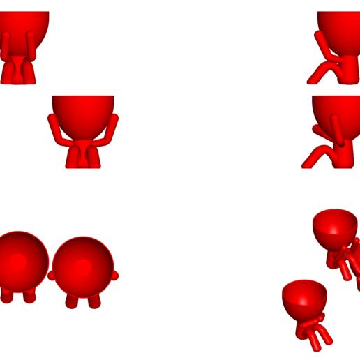 los 3 sabios_rojo_2.png Télécharger fichier STL gratuit Les 3 pots verres Robert Sabios Ne lit pas, n'écoute pas, ne voit pas - Les 3 pots verres Robert Sabios Ne lit pas, n'écoute pas, ne voit pas • Objet à imprimer en 3D, CREATIONSISHI
