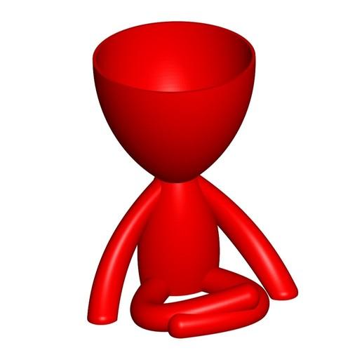 Vaso_104_Rojo_1.jpg Télécharger fichier STL gratuit JARRÓN MACETA ROBERT 104 - VASE POT DE FLEURS ROBERT 104 • Objet pour imprimante 3D, CREATIONSISHI