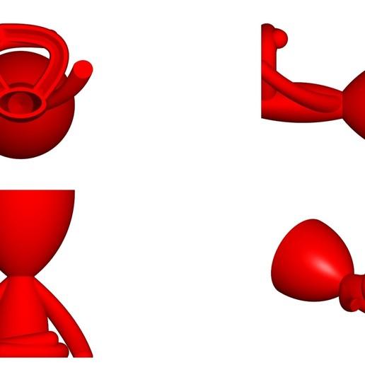 Vaso_104_Rojo_2.jpg Télécharger fichier STL gratuit JARRÓN MACETA ROBERT 104 - VASE POT DE FLEURS ROBERT 104 • Objet pour imprimante 3D, CREATIONSISHI