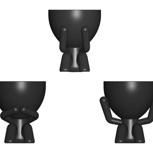 los 3 sabios_negro_2.png Télécharger fichier STL gratuit Les 3 pots verres Robert Sabios Ne lit pas, n'écoute pas, ne voit pas - Les 3 pots verres Robert Sabios Ne lit pas, n'écoute pas, ne voit pas • Objet à imprimer en 3D, CREATIONSISHI