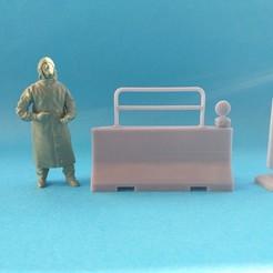 20201205_110723.jpg Télécharger fichier STL Barriere beton set / concrete road barriere set (1/35) • Plan pour imprimante 3D, _Jeff_