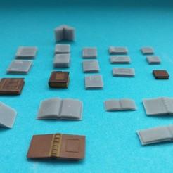 20201207_143940.jpg Télécharger fichier STL Livres style ancien set (échelle 1/35) Old book (scale 1/35) • Objet pour imprimante 3D, _Jeff_