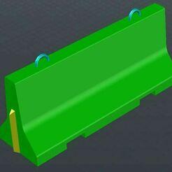 Concrete_road_barrier.JPG Download free STL file Concrete road barrier (scale 1/35) • 3D printable template, _Jeff_