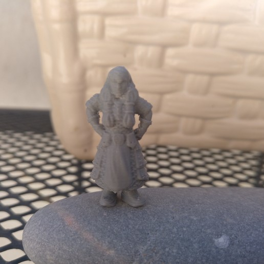 Download free 3D printing templates Women Warrior 28mm, Salinits