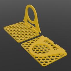 preview_Hanger_V2.JPG Télécharger fichier STL gratuit Support téléphonique pliable V2 inclus • Objet pour imprimante 3D, alexandrepetersen