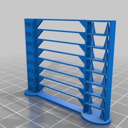 Download free 3D printer designs Temperature Tower 2g 30 minutes print, alexandrepetersen