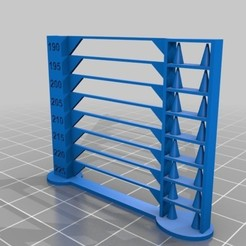 Download free 3D printing templates GCODE Temperature Tower 2g 39 minutes print, alexandrepetersen
