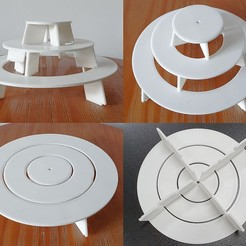 Fotos_Bandeja.jpg Download free STL file 3 Tier Dessert Tray • 3D printing object, alexandrepetersen