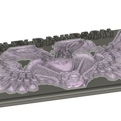 Download 3D printer templates Harley emblem, patriksoderhjelm
