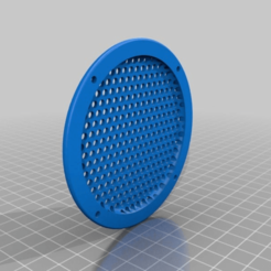 Download free 3D printer designs Speaker Grill, jorisnysthoven