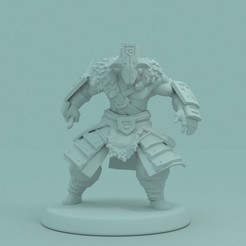 1.jpg Download STL file Dota 2 - Jaggernaut. • 3D printer model, PRiNG