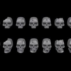 1.jpg Télécharger fichier STL Warhammer 40K - Ensemble de crânes humains. • Design à imprimer en 3D, PRiNG
