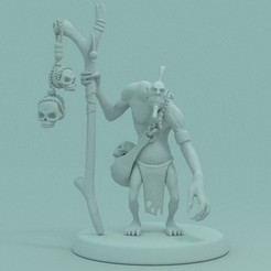 1.jpg Download STL file DOTA 2 - WITCH DOCTOR. • 3D printing design, PRiNG