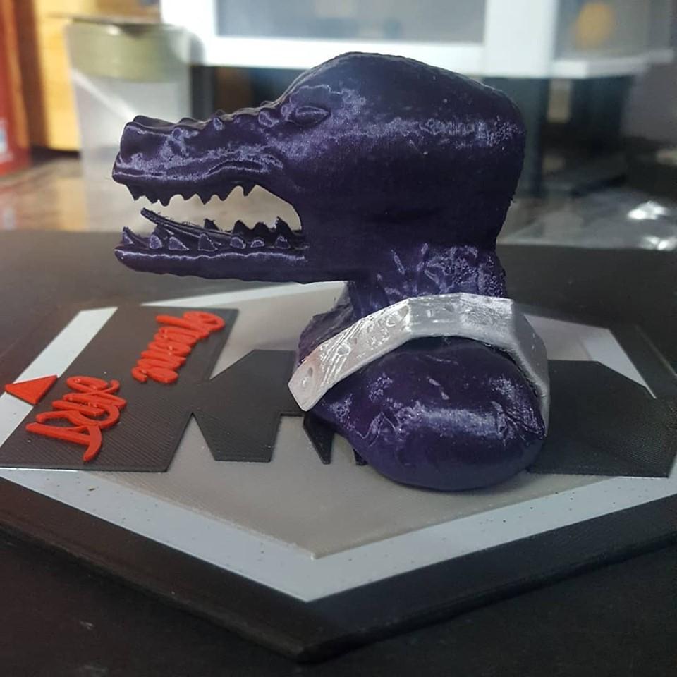 lagarto 2.jpg Download free STL file lizar warrior bust. • 3D printer object, neoneknk