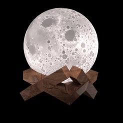 Lamps moon.jpg Download free STL file Lamp -Moon • 3D print model, tarasshahmatenko