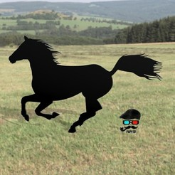 Descargar modelos 3D gratis Pintar Caballo 2D, Papy3D