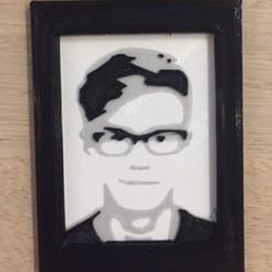 Descargar diseños 3D Retrato 3d personalizado en un marco de la foto, dziubym