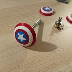 Download free 3D printing files Capitan America's shield screw cover, pparsniak