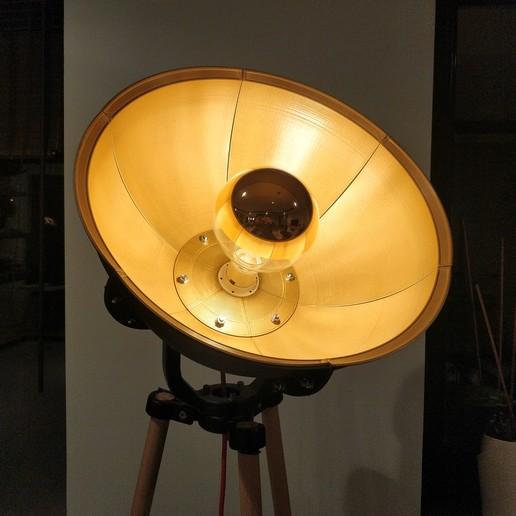 Télécharger fichier impression 3D Grande lampe industrielle. Support d'ampoule ikea compatible, pparsniak