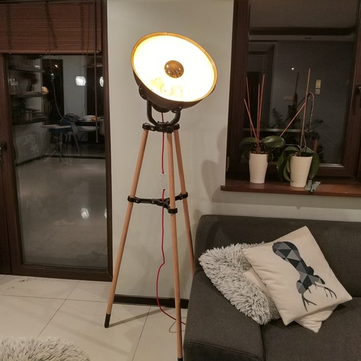 Download free 3D model Big industial lamp. ikea bulb mount compatibile, pparsniak