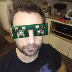 Download free 3D printer designs minecraft creeper glasses, pparsniak