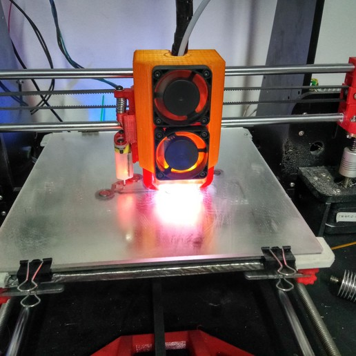 Download 3D printer templates Anet a8 e3dv6 carriage with cover - modular version, pparsniak
