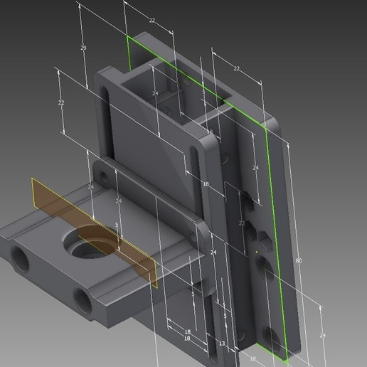 Download free 3D printer designs Anet a8 E3D V6 modular adapter with cable / fun duct at back, pparsniak