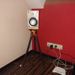 Download free 3D print files Loft style speaker stand two versions, pparsniak