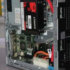 """IMG_7294.JPG Télécharger fichier SCAD gratuit HPE ProLiant MicroServer Gen8 2x 2,5"""" Support de disque dur • Design pour impression 3D, stanoba"""