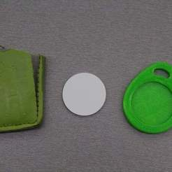 IMG_8566.JPG Download free STL file Jablotron RFID leather tag replacent • 3D print object, stanoba