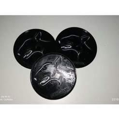 Télécharger fichier impression 3D gratuit Dessous de verre avec des races de chiens de taureau, michal0082