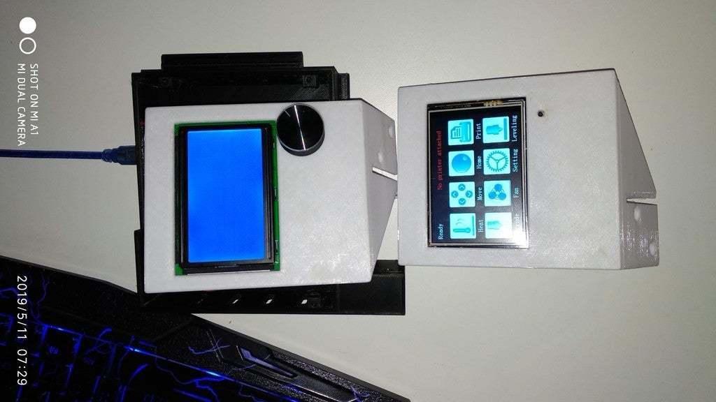 IMG_20190511_072956.jpg Download free STL file Display cases for Ender 3 and BIGTREETECH TFT35 V1.2 control panel TFT 3.5 v2 • 3D print model, michal0082
