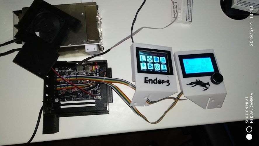 IMG_20190514_184815.jpg Download free STL file Display cases for Ender 3 and BIGTREETECH TFT35 V1.2 control panel TFT 3.5 v2 • 3D print model, michal0082