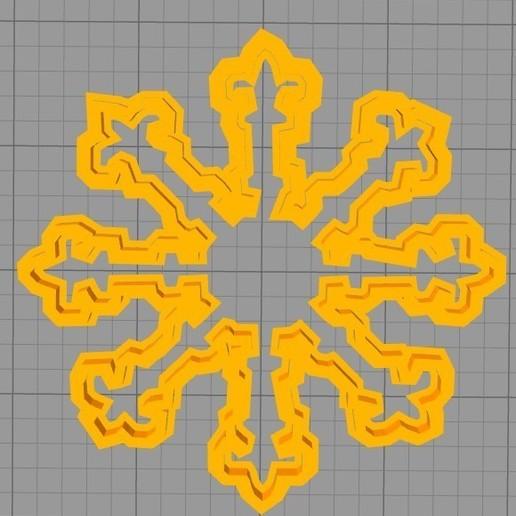 Télécharger fichier impression 3D gratuit Biscuits Cutter flocon de neige, werwr3
