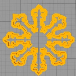 Download free 3D model Cutter cookie snow snowflake, werwr3