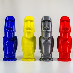 Download 3D printing designs Moai Sculpture - 3D Print Model - Easter Island, ChM3D