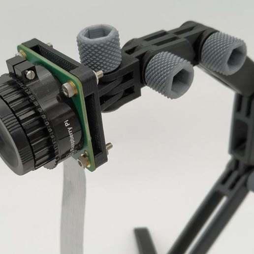 01.jpg Download free STL file RPI HQ Camera support • 3D printer design, jeek25