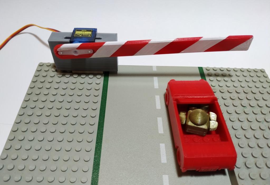 Barriere.jpg Télécharger fichier STL gratuit Barrière avec servomoteur • Objet pour impression 3D, jeek25