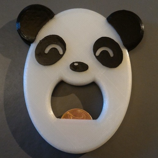 Download free STL file Panda Bottle Opener, jeek25