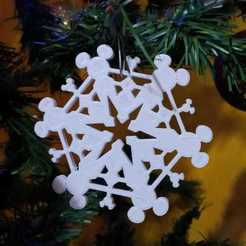 Download STL file mickey mouse snowflake • Design to 3D print, Tule