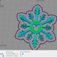 Descargar archivos STL copo de nieve de navidad mickey mouse, Tule